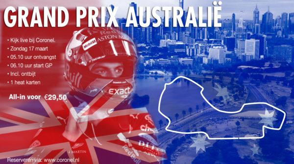 Kom bij ons Formule 1 kijken!